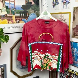 Vintage Christmas Cropped T-Shirt